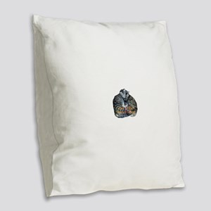 Save A Life! Rescue & Adopt! Burlap Throw Pillow