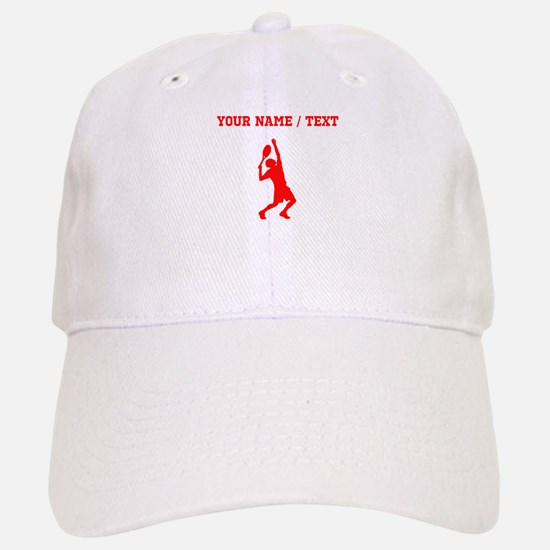 Red Tennis Player (Custom) Baseball Baseball Baseball Cap