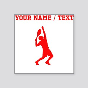 Red Tennis Player (Custom) Sticker