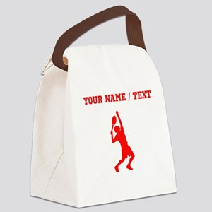 Red Tennis Player (Custom) Canvas Lunch Bag