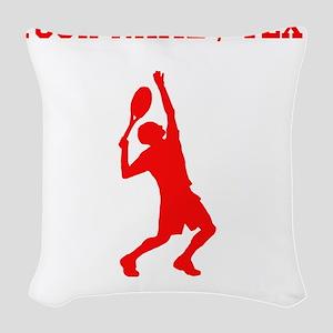 Red Tennis Player (Custom) Woven Throw Pillow