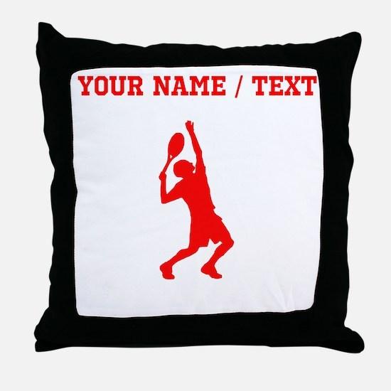 Red Tennis Player (Custom) Throw Pillow