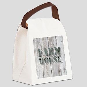 barn wood farmhouse Canvas Lunch Bag