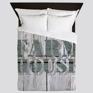 barn wood farmhouse Queen Duvet