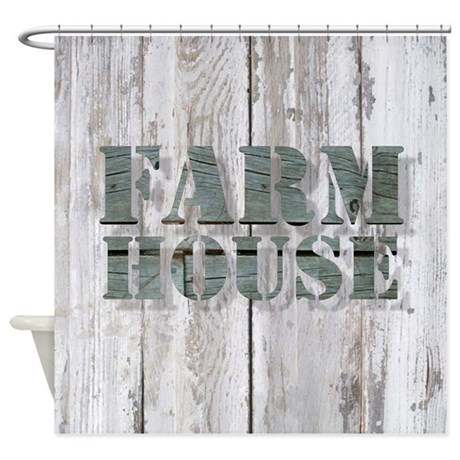 Barn Wood Farmhouse Shower Curtain By ADMIN CP62325139