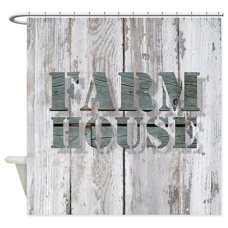 Barn Wood Farmhouse Shower Curtain By ADMIN CP62325139