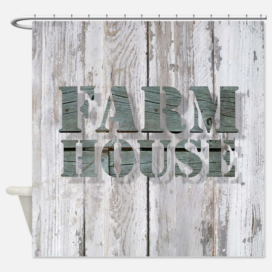 barn wood farmhouse Shower Curtain