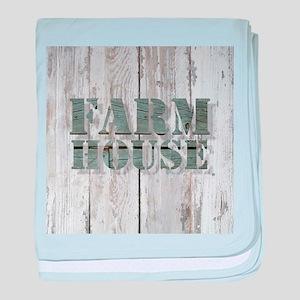 barn wood farmhouse baby blanket