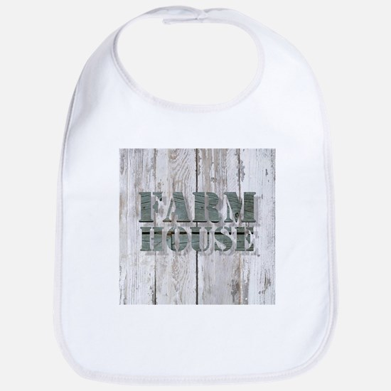 barn wood farmhouse Bib