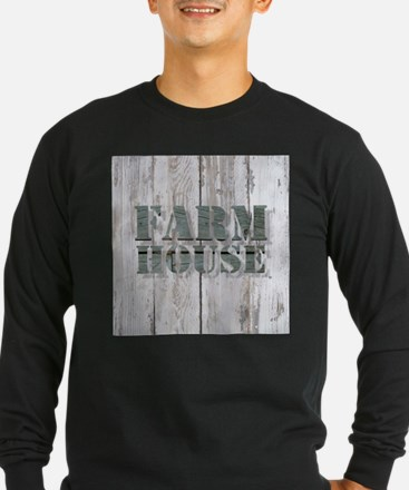 barn wood farmhouse Long Sleeve T-Shirt