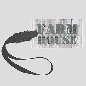 barn wood farmhouse Large Luggage Tag