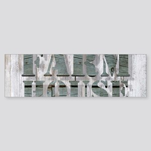 barn wood farmhouse Bumper Sticker