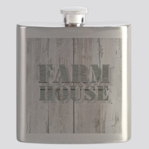 barn wood farmhouse Flask