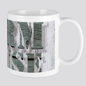 barn wood farmhouse Mugs