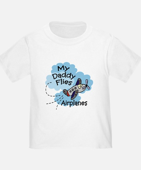 My Daddy Flies Airplanes Boy Baby T-Shirt