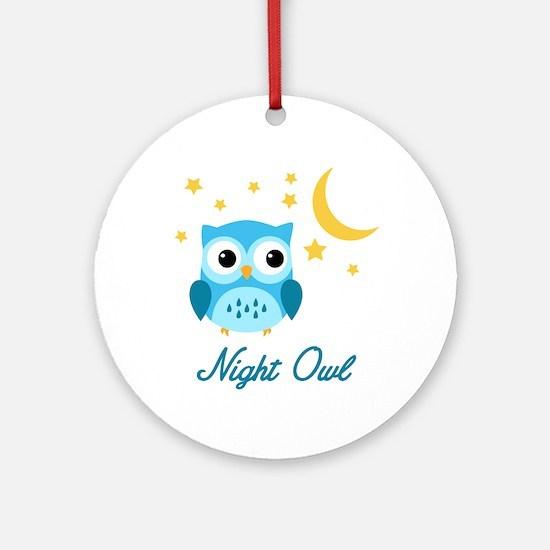 Night Owl (Blue) Ornament (Round)