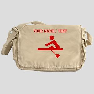 Red Rower (Custom) Messenger Bag