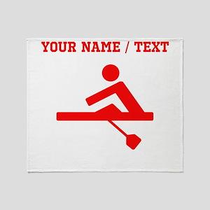 Red Rower (Custom) Throw Blanket