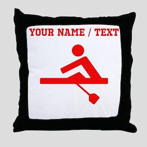 Red Rower (Custom) Throw Pillow