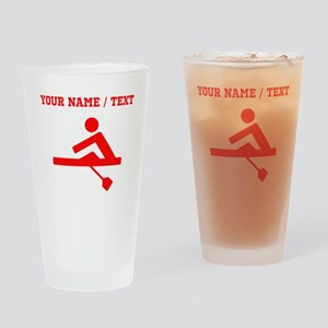 Red Rower (Custom) Drinking Glass