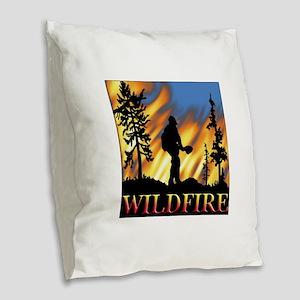 Wildfire Burlap Throw Pillow