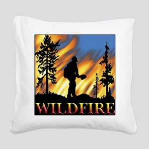 Wildfire Square Canvas Pillow