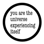 You Are The Universe Round Car Magnet