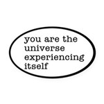 You Are The Universe Oval Car Magnet