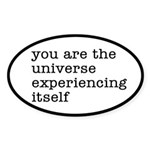 You Are The Universe Sticker (Oval)