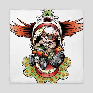 Clownin' Skully Quad Rider Queen Duvet