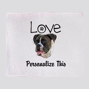 Boxer Love Personalized Throw Blanket