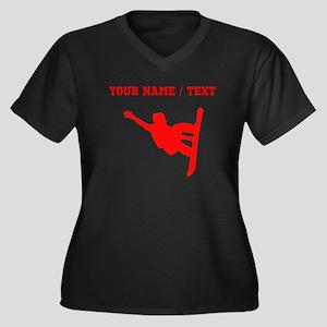 Red Snowboarder (Custom) Plus Size T-Shirt