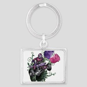 Flower Powered Quad Keychains