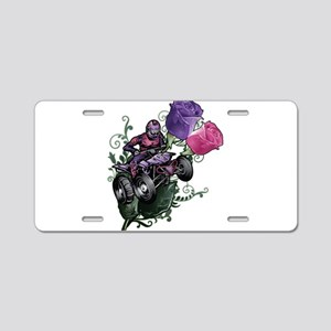 Flower Powered Quad Aluminum License Plate