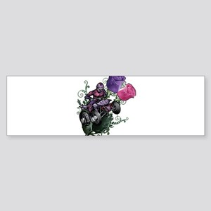 Flower Powered Quad Bumper Sticker