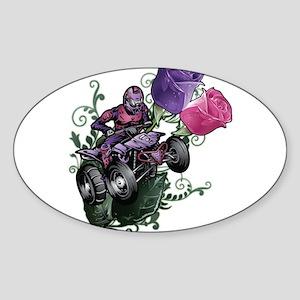 Flower Powered Quad Sticker