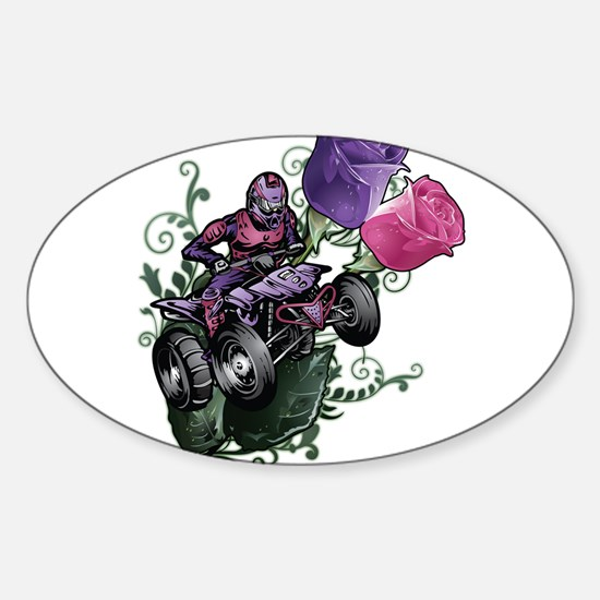 Flower Powered Quad Decal