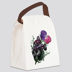 Flower Powered Quad Canvas Lunch Bag