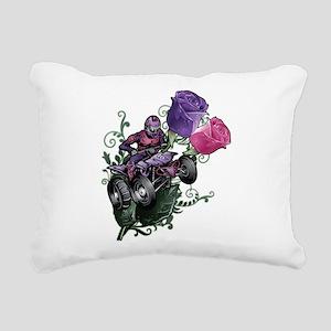 Flower Powered Quad Rectangular Canvas Pillow