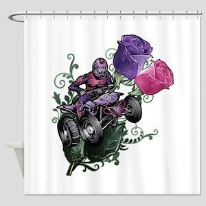 Flower Powered Quad Shower Curtain