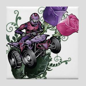 Flower Powered Quad Tile Coaster