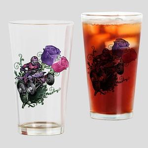 Flower Powered Quad Drinking Glass