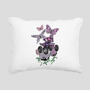 Butter-Flowered Quad Rectangular Canvas Pillow