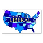 True Blue LIBERAL Rectangle Sticker