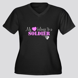 My 3 belongs to a Soldier Plus Size T-Shirt