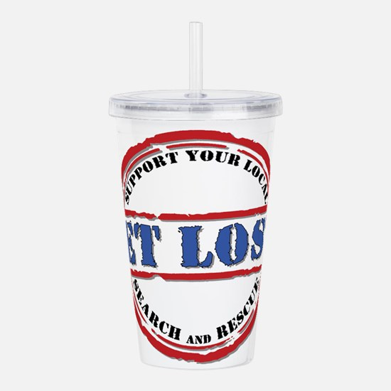 Get Lost (W).png Acrylic Double-wall Tumbler