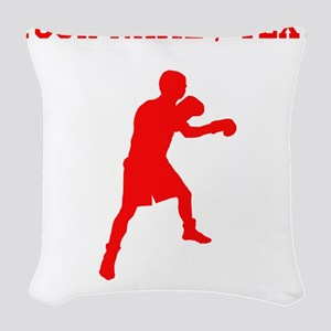 Red Boxer (Custom) Woven Throw Pillow