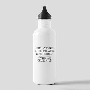 Winston Churchill Internet Quote Water Bottle