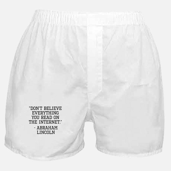 Abraham Lincoln Internet Quote Boxer Shorts
