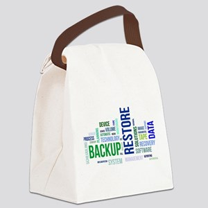 word cloud - backup restore Canvas Lunch Bag